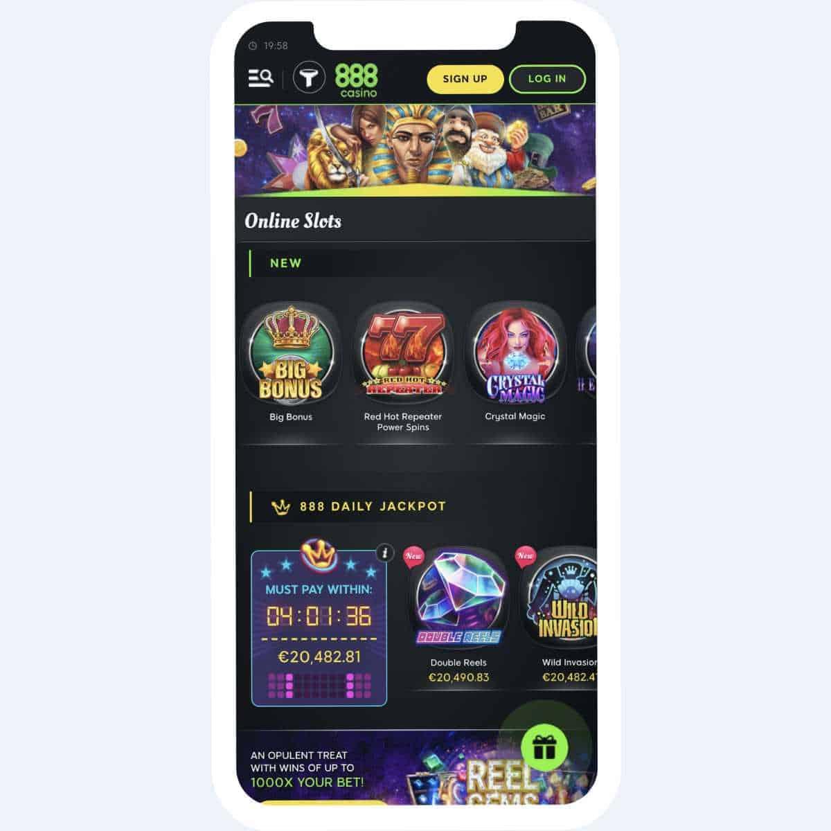 888 casino slots mobile