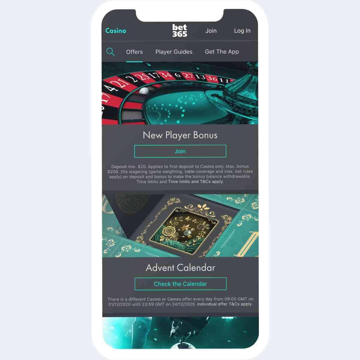 bet365 bonus mobile