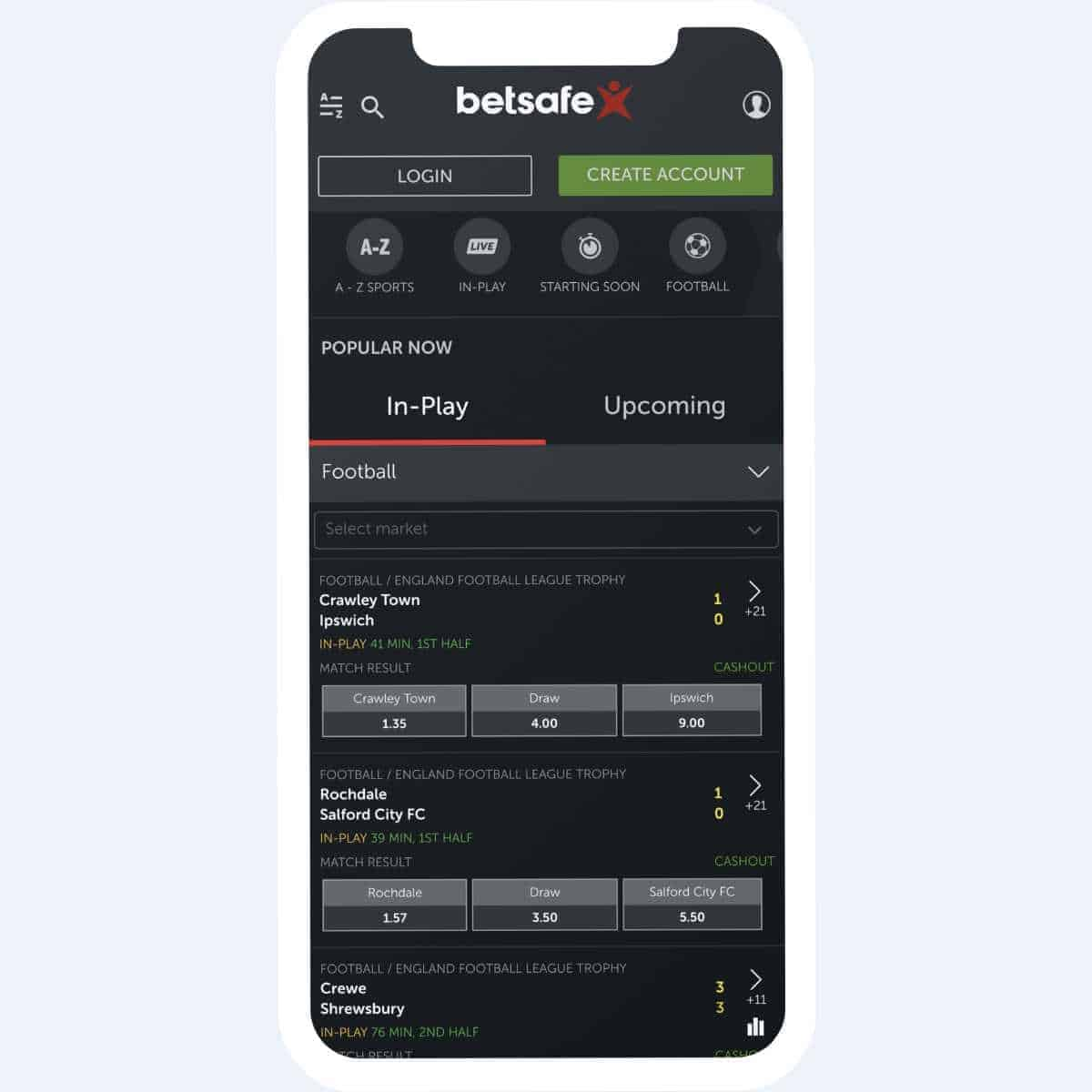 betsafe sportsbetting mobile
