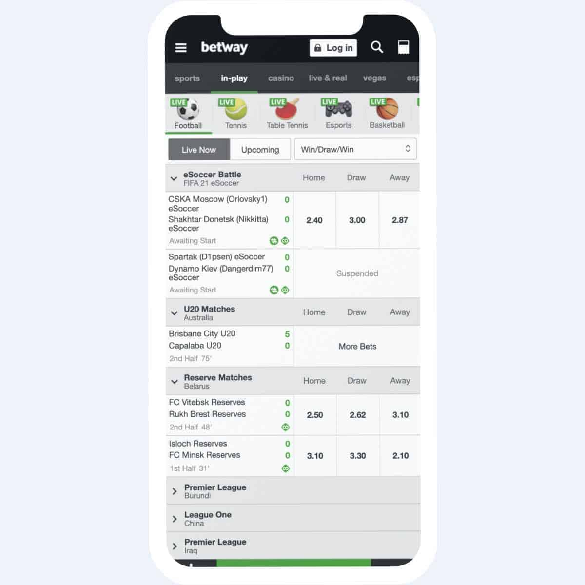 betway sportsbetting mobile