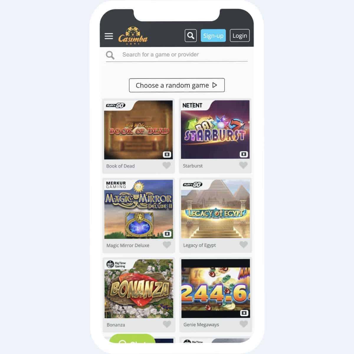 casimba games mobile