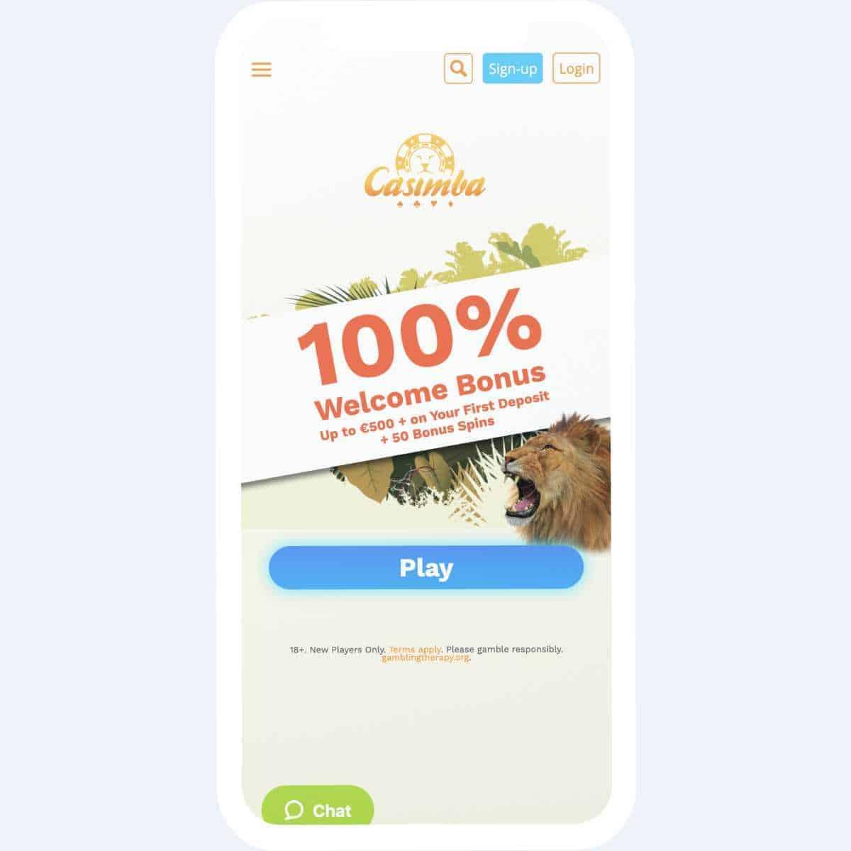 casimba welcome bonus mobile