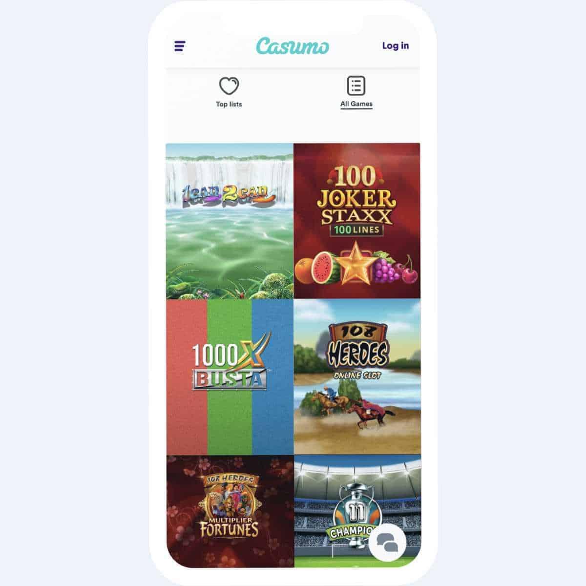 casumo games mobile