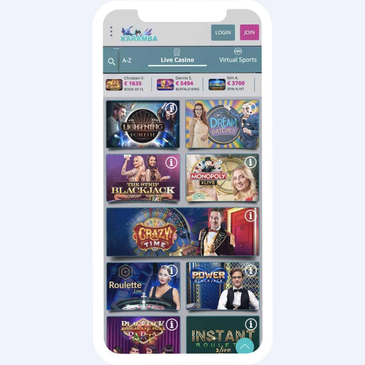 karamba games mobile