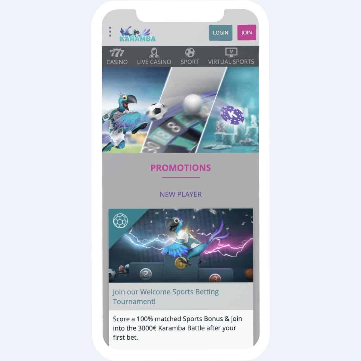 karamba promotions mobile