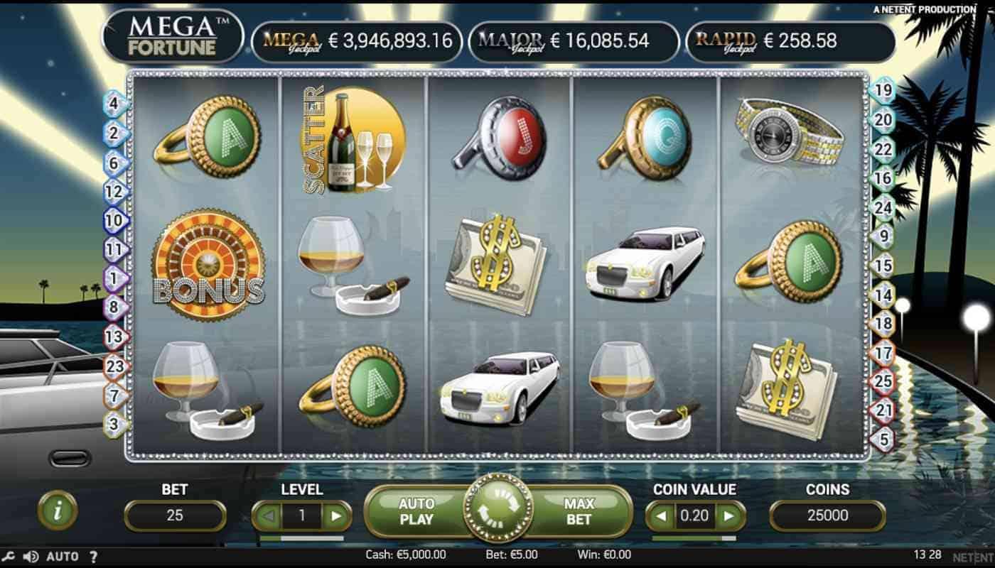 Mega Fortune screenshot 1