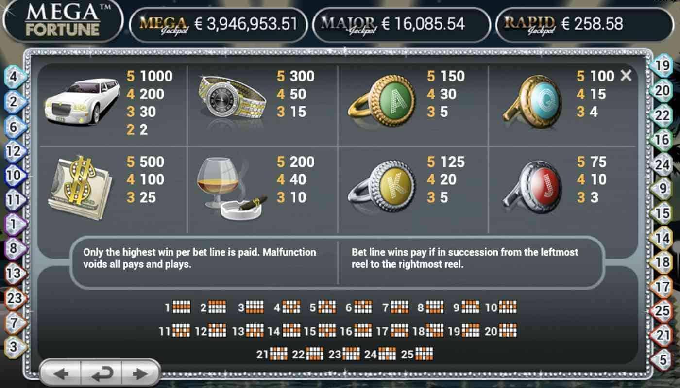 Mega Fortune screenshot 3