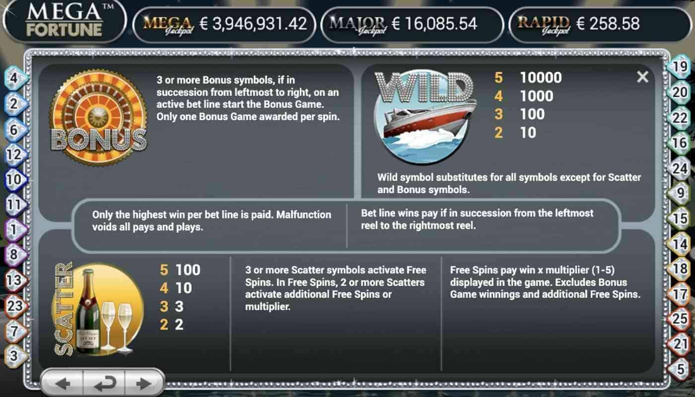 Mega Fortune screenshot 2