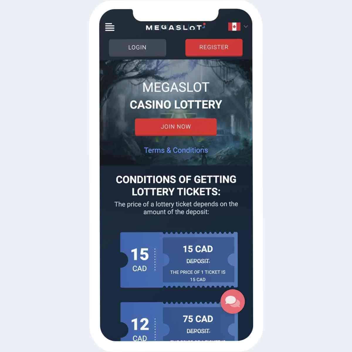 megaslot casino loterij