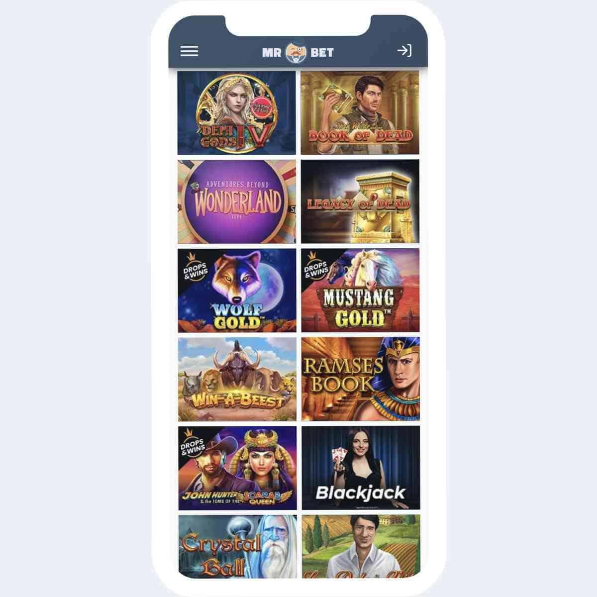 mr bet games mobile