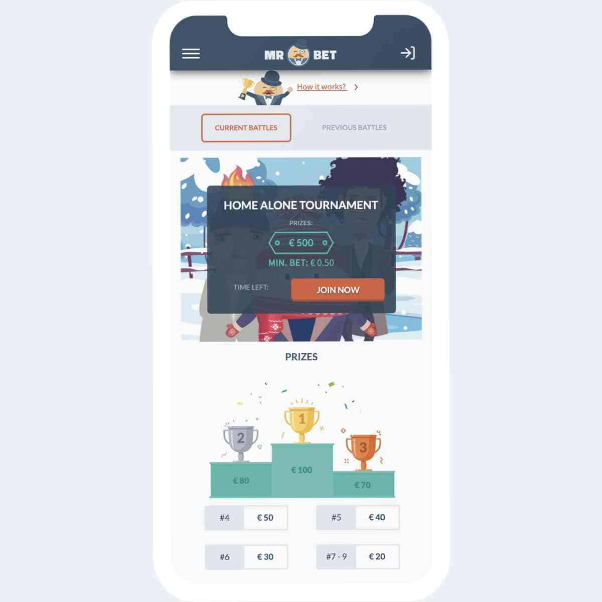 mr bet prizes mobile