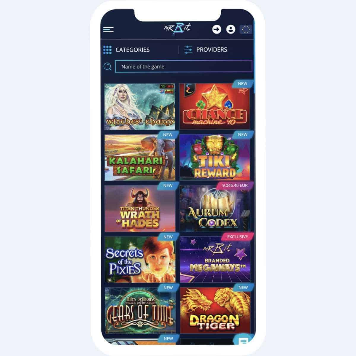 mrbit games mobile