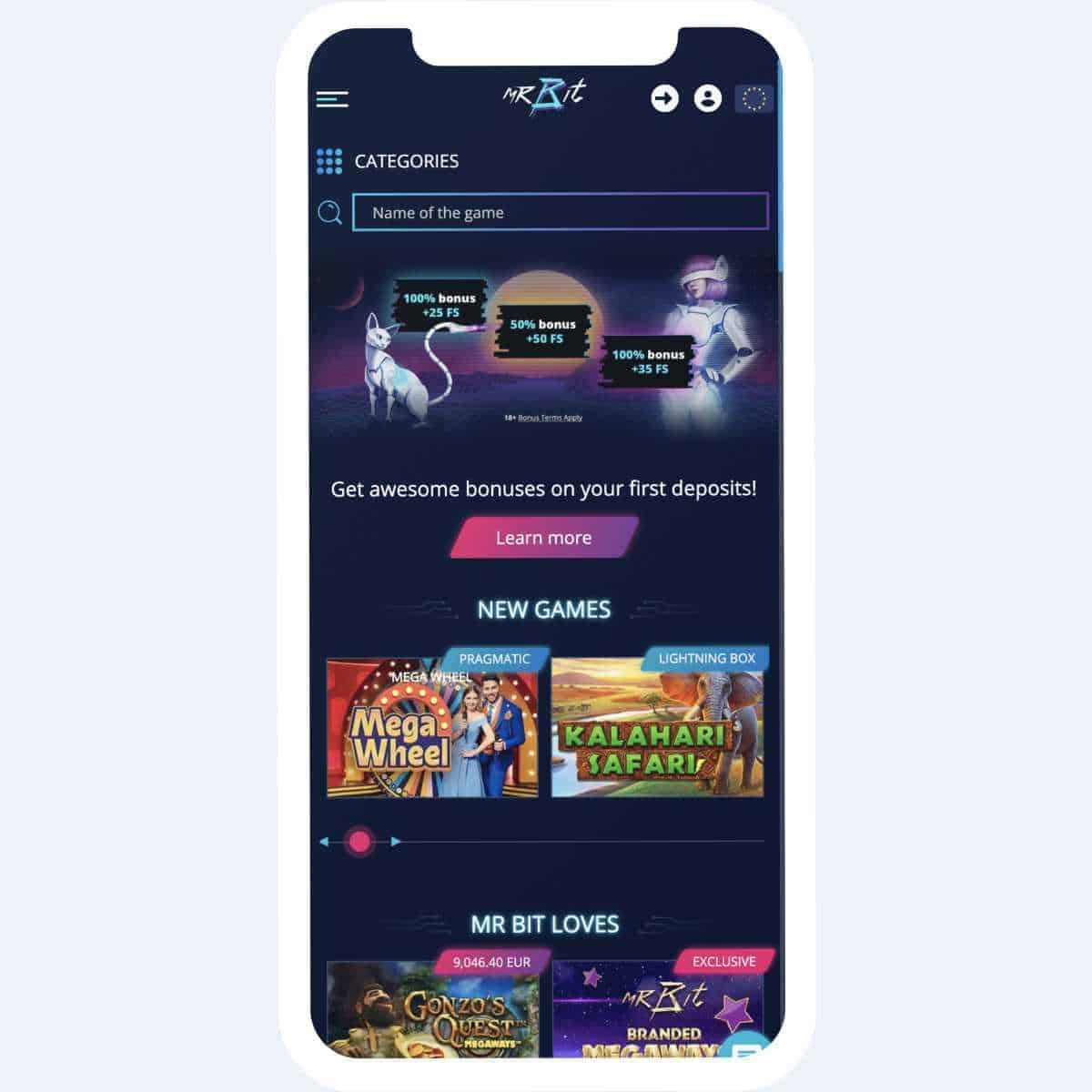 mr bit homepage mobile