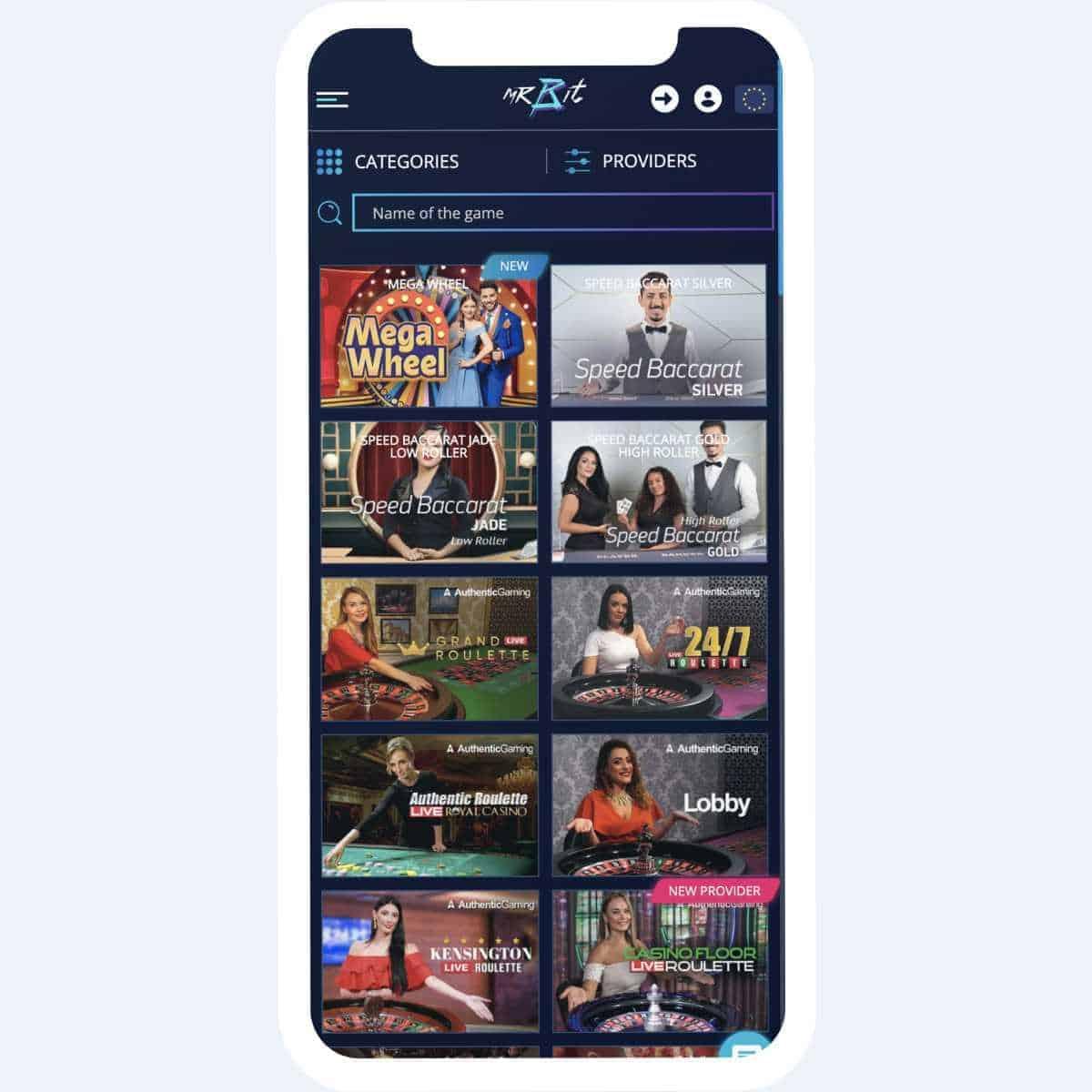 mr bit live casino mobile