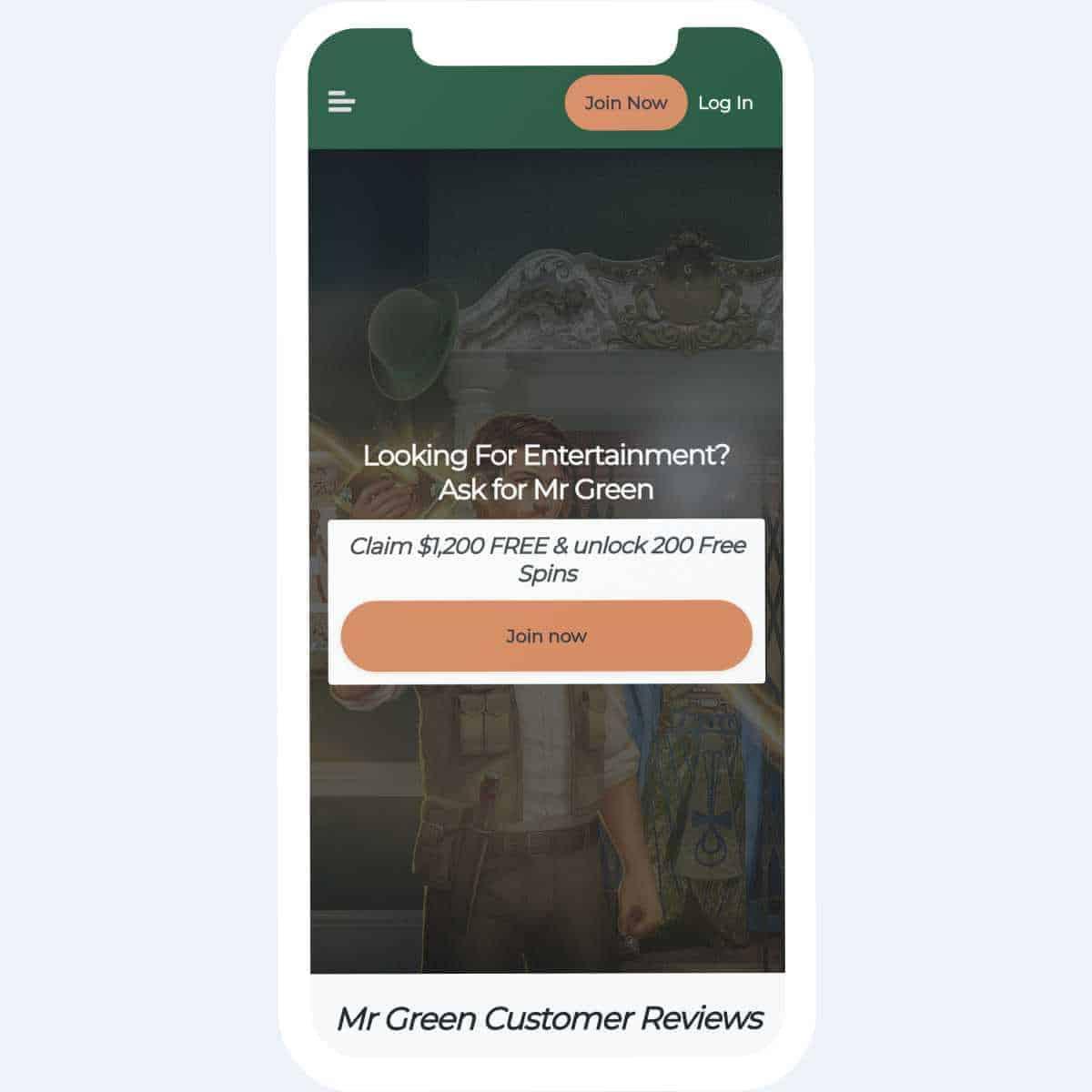 mr green bonus mobile