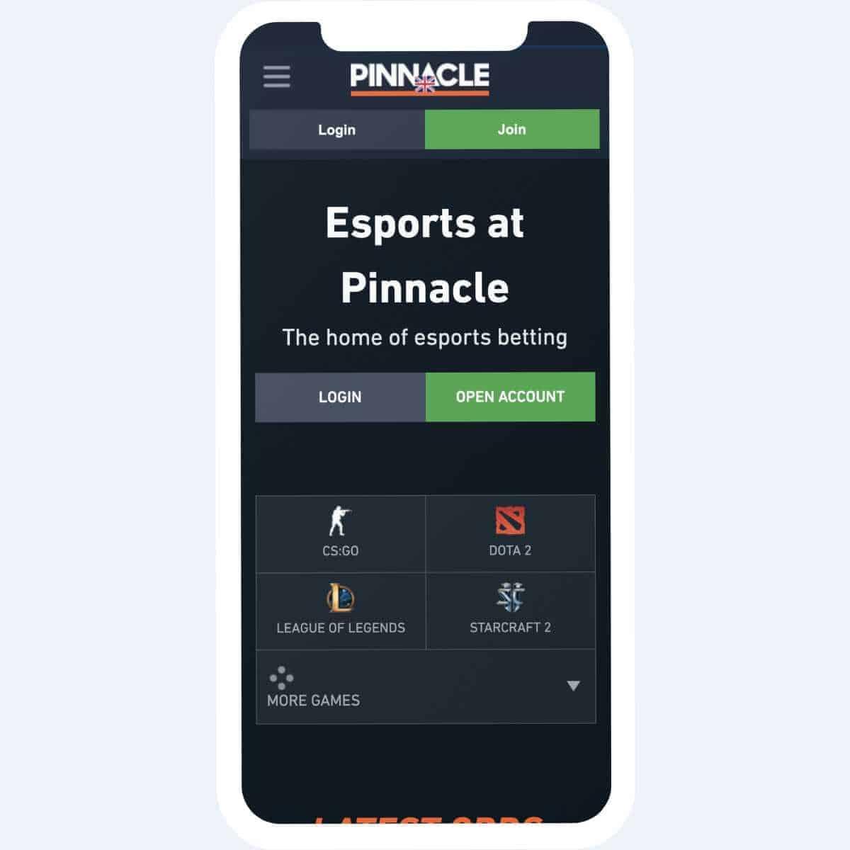 pinnacle sports account login