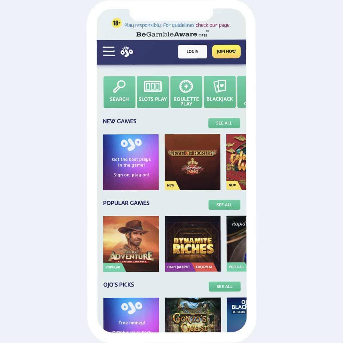 playojo games mobile