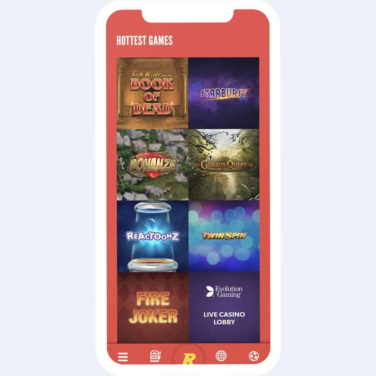 rizk games mobile