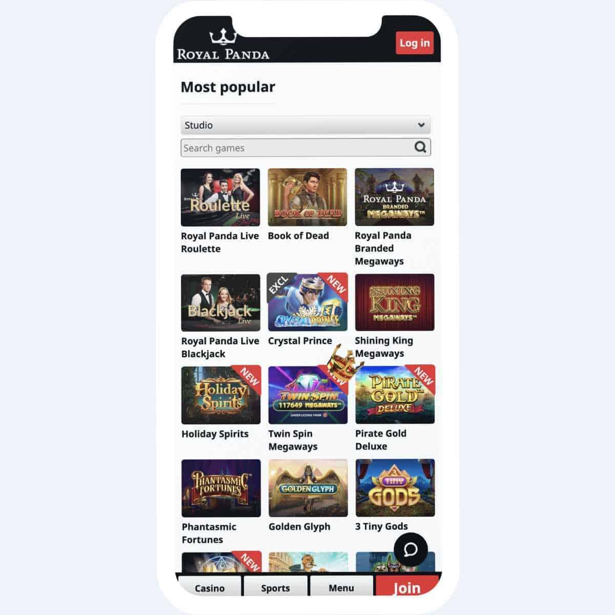 royal panda games mobile