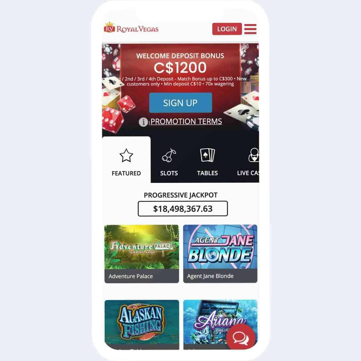 royal vegas homepage mobile