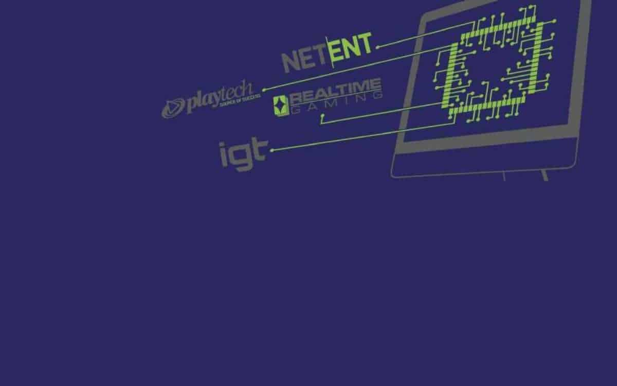 software providers, netent, igt, playtech, realtime gaming