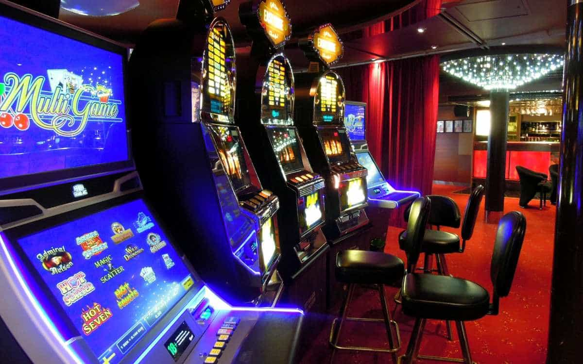 gamblers playing slot machines in a canadian casino
